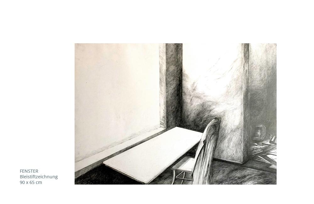 Fenster bleistiftzeichnung  Edith Schlagenhauf-Frick » Zeichnung